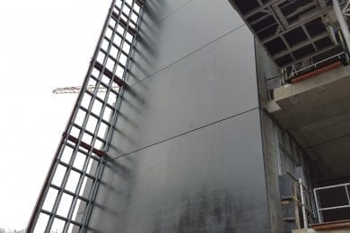 coating on outdoor walls