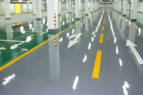 colour coded car park flooring system