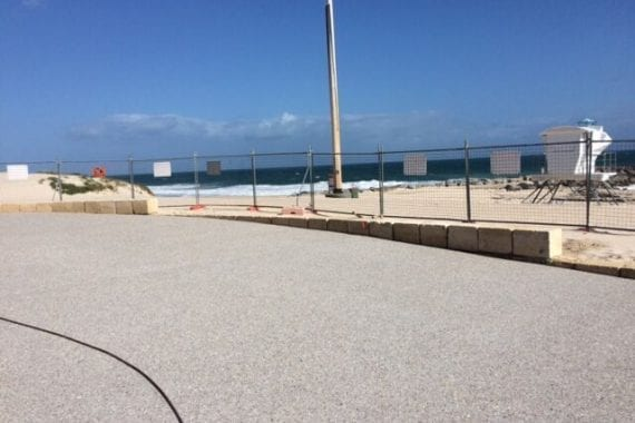 flooring outdoors at city beach surf club