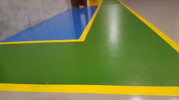colour coded flooring