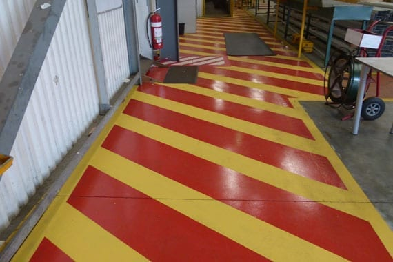colour coded safety flooring