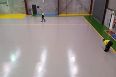 colour coded flooring