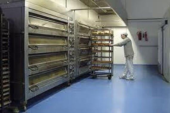 flooring in industrial bakers setting