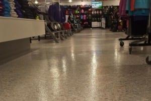 flooring in commercial showroom