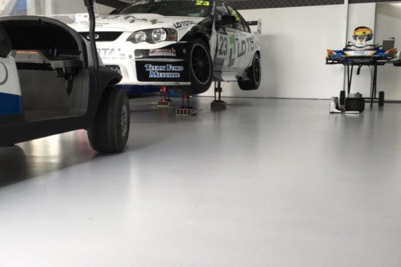 concrete painting and colouring with race cars