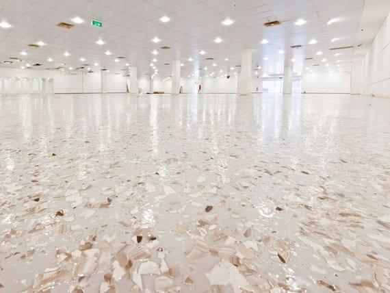 decorative marble white look flooring