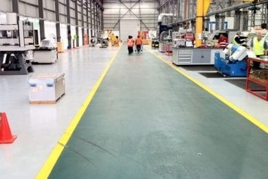 epoxy and resin safety flooring