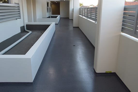 finished outdoor area with coating to thefloor