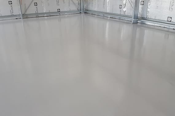concrete flooring inside a building