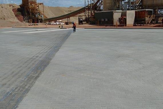 sealing large open concrete floor