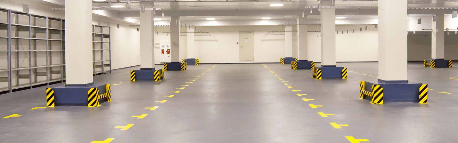 flooring with safety markings