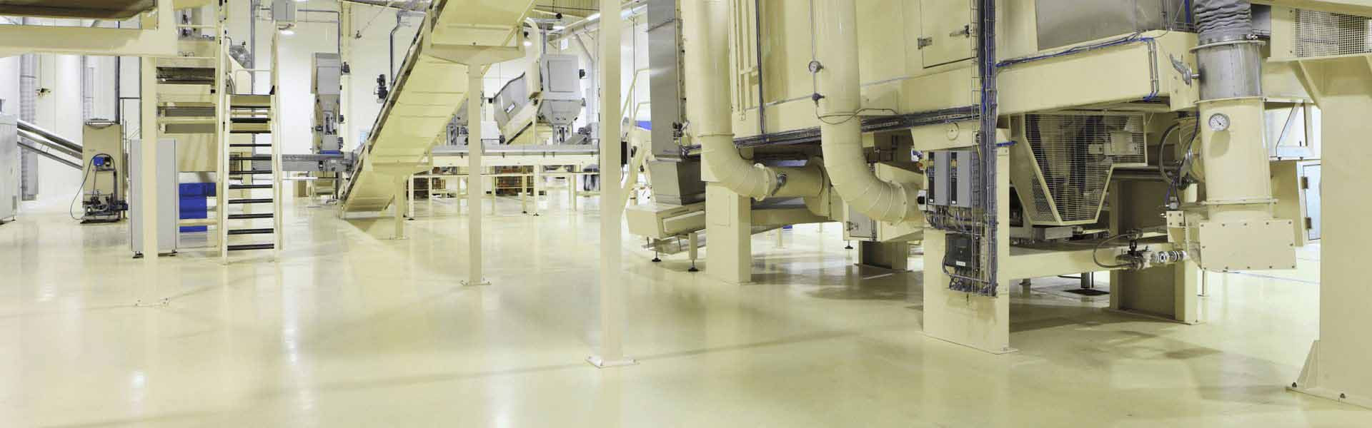 inside industrial area with epoxy flooring
