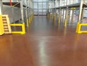 coloured flooring inside a large building