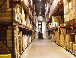 flooring in an industrial storage area