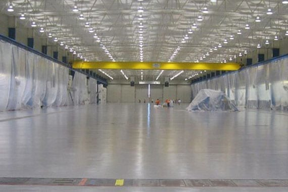 large area with floor coating