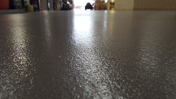 close up on the coating on a floor