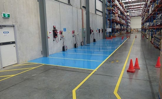 colour coding in warehouse floor