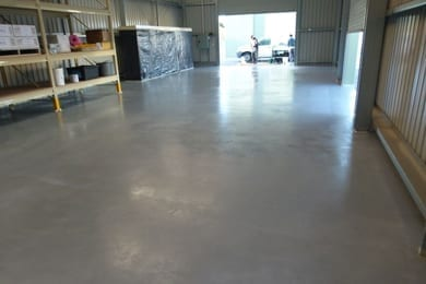 flooring inside a commercial unit